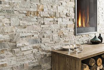 Mur en parement cheminée