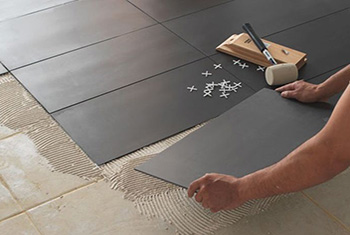Pose carrelage anthracite